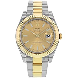 NEW Rolex Datejust II Stainless Steel and 18K Yellow Gold Mens watch 116333 CHIO