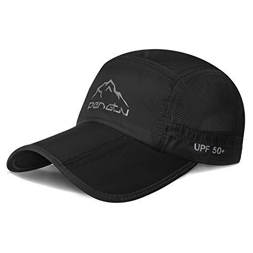 Botack Foldable Sun Cap - Baseball Cap Long Brim Quick Drying UPF 50 Sun Protection Outdoor Sports Hats for Men Women