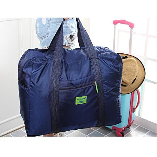 Pour Bagages Foncé Pliable Léger Sports Travel De Ogquaton Nylon Sac Grand Portable bleu 1pcs Rangement CP77vwq