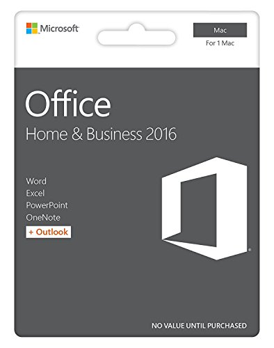 Mac Office-2016 Home and Business - 1 User