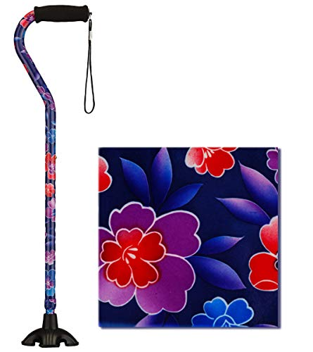 NOVA Sugarcane, Walking Cane with Quad Tip and Carrying Strap, Stand A