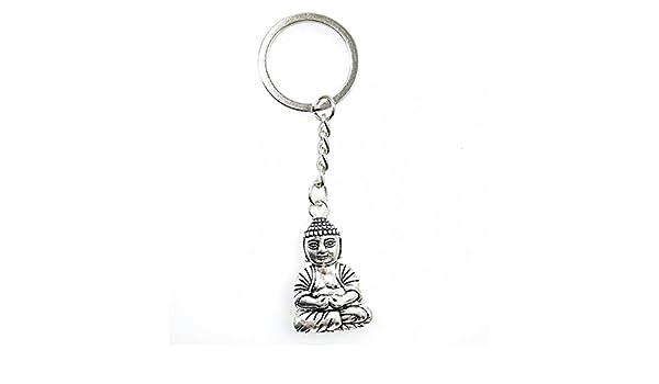 Artisanal llavero Buda en metal. Patines.: Amazon.es: Joyería