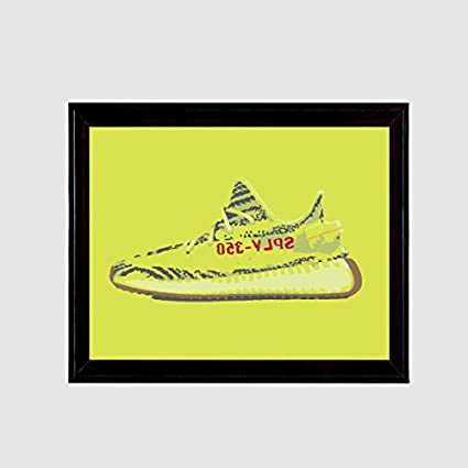 f5e367f24 Image Unavailable. Image not available for. Color  Yeezy 350 Boost v2 Semi  Frozen Yellow Zebra Art Print