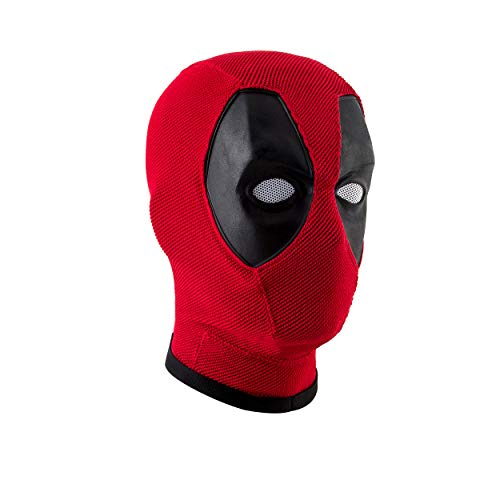 Deadpool Mask,Wade Wilson Mask,Marvel Deadpool Mask Helmet Knitted Props Red -