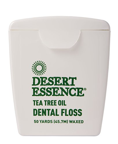 Desert Essence Tea Tree Oil Floss, 50 yds, 6 Pack