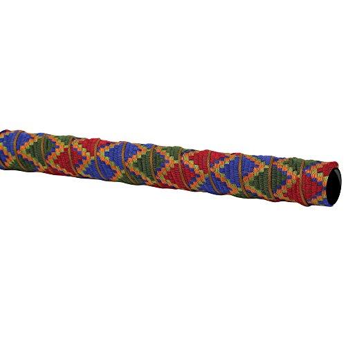 (Serfas Woven Bicycle Handle Bar Tape (Magenta/Dark Blue/Dark Green/Orange Aztec Design))