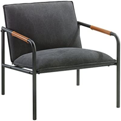 Sauder Boulevard Cafe Metal Lounge Chair, Charcoal Gray finish