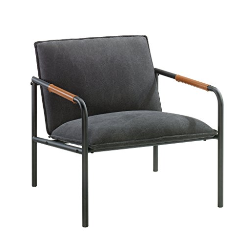 Sauder 422355 Boulevard Cafe Metal Lounge Chair, L: 25.98″ x W: 28.35″ x H: 26.77″, Charcoal Gray finish