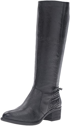Leather Boot Women's Black Steve Madden Lonnny Riding UnfWU6Tv