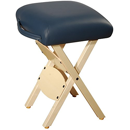 Mt Massage Wooden Folding Massage Stool, Agate Blue