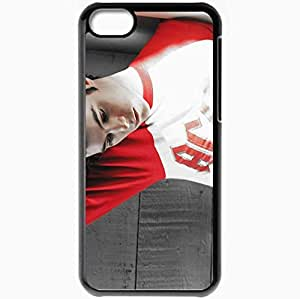 Personalized iPhone 5C Cell phone Case/Cover Skin Adam Brody Dark Haired Shirt Thoughtful Light Bright Black