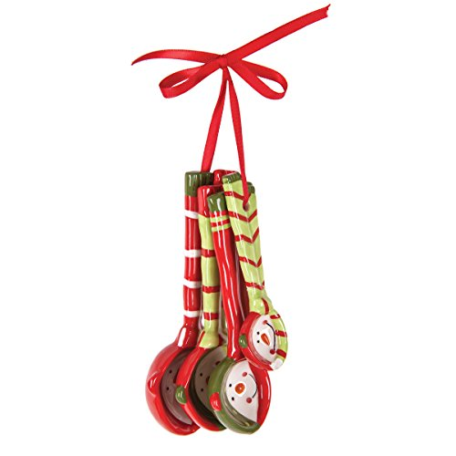 C&F Home Snowman Measuring Spoon Ornament Red (Snowmen Measuring Spoons)