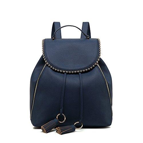 Hlpgz Der Neue Pu-Handtasche Schultertasche Große Umhängetasche Braun Blue