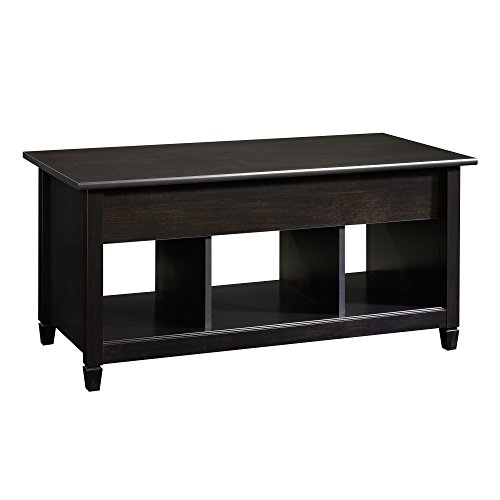 Sauder Edge Water Lift-Top Coffee Table, Estate Black (Cocktail Table Finish)