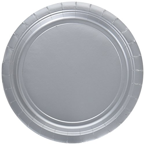 Silver Big Party Pack Dessert Plates (50)