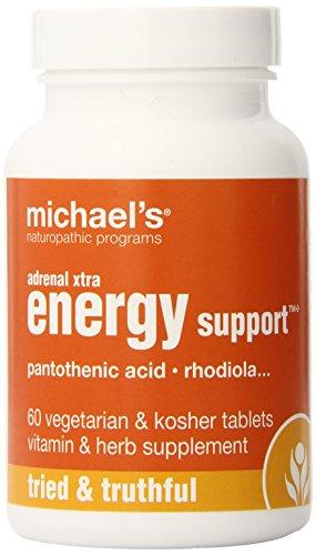 Programmes naturopathique surrénalienne Xtra Energy Support suppléments nutritionnels de Michael, comte 60