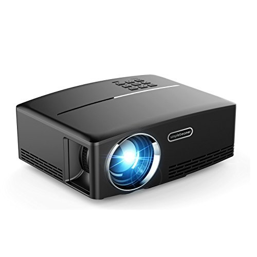 YJMOYE Video Projector Portable Mini HD Multimedia Beamer Supports 1080P for Home Movie Theater, Games, Computer  TV Show(black)