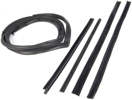Fits 87-95 Jeep YJ Wranglers Omix-ada This 5-piece door seal kit from Omix-ADA fits doors with a movable vent window Left side 12303.51