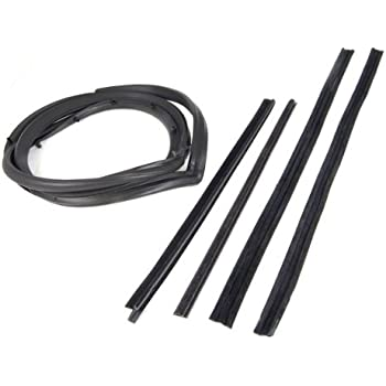 Omix-ada This 5-piece door seal kit from Omix-ADA fits doors with a movable vent window. Fits 87-95 Jeep YJ Wranglers. Left side. 12303.51