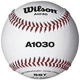 Wilson A1030 Balón de Béisbol, Unisex adulto, White, NS