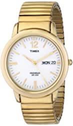 Timex Men's T21942 Elevated Classics Dress Gold-Tone Expansion Band Watch