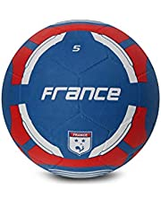 Vector X France Rubber Moulded Football, Size 5, red-blue