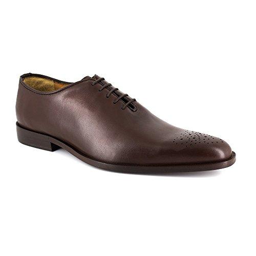 Richelieu J.Bradford Cuero Burdeos - Color - Rojo, Talla Zapatos - 46