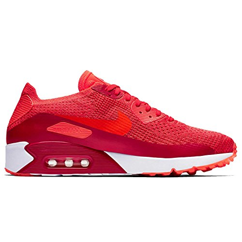 NIKE Women's Air Max 90 Ultra 2.0 Flyknit Orange/White 881109-600 (Size: 8)