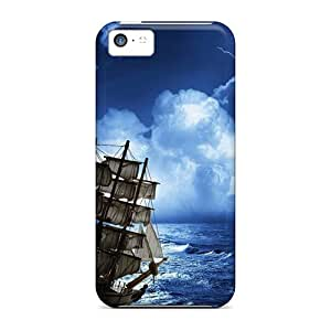 Waterdrop Snap-on Space Ship Sailing Storm Cases For Iphone 5c
