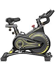 Indoor Exercise Bike, Cycling Spin Bike Cardio Workout W/Belt Driven Flywheel Cycling Adjustable Handlebars Seat Resistance