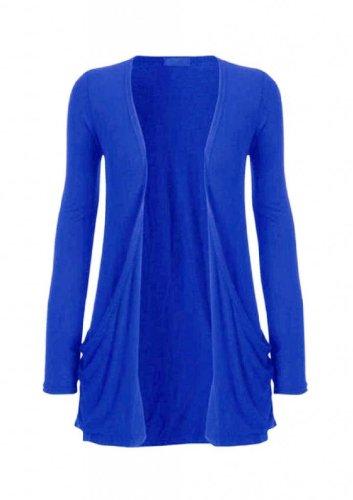 Hot Hanger Femme manches longues Cardigan haut : Color - Bleu électrique : Size - 36-38 SM