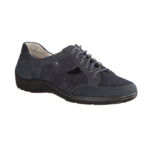 Lacets Waldläufer Bleu de Chaussures à Ville Femme Bleu pour rcAUZcnWxq