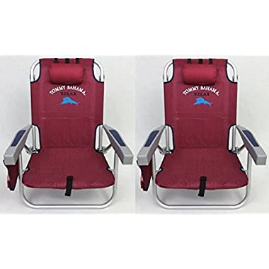 2 Tommy Bahama Backpack Beach Chairs 2016 / Red
