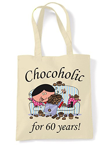 Chocoholic For 60 Years - 60th Birthday Tote / Shoulder Bag