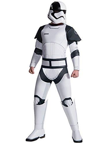 Rubie's Star Wars Episode VIII: The Last Jedi Uni-Sex Deluxe Executioner Trooper Costume White/Black -