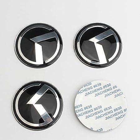 D28JD Logo Emblema para Las Letras ABS Carrocer/ía la Etiqueta engomada para K-IA Sorento K5 KIA VIP Kflight,Plata