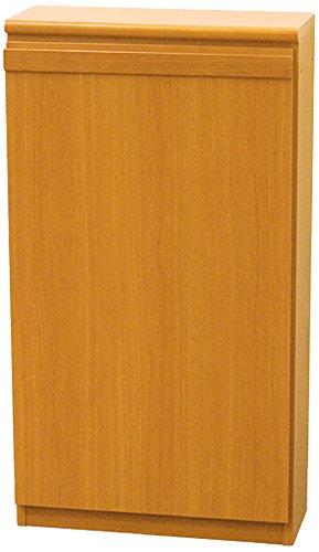 起立木工 奥行き19cm 薄型収納 日本製 45×37×82cm Nスリムキャビネット B型 ダークブラウン 28007 B0742GXVGX ダークブラウン|B型 ダークブラウン