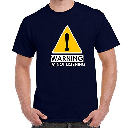 Starlite-Mens Funny Tshirts-Warning-I'm Not Listening T-Shirts-funny gifts