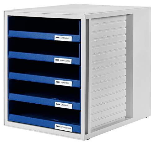 Han-Burogerate-1401-14-Bandeja-de-correo-apilable-tamano-75-x-330-x-320-mm-color-gris-azul