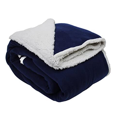 """Heavyweight Sherpa Fleece Throw Blanket 90x90"""", Full/Queen, Reversible Fuzzy Soft Warm Breathable Fluffy for Bed, Chair,..."""