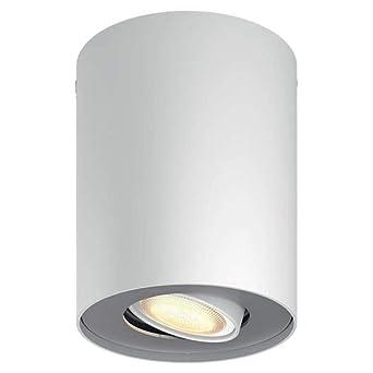 Philips Hue White Ambiance Pillar Led Aufbaustrahler 1er Spot Erweiterung Weiss Innen Dimmbar 350 Lumen Lampe Deckenleuchte Deckenspot Wohnzimmer