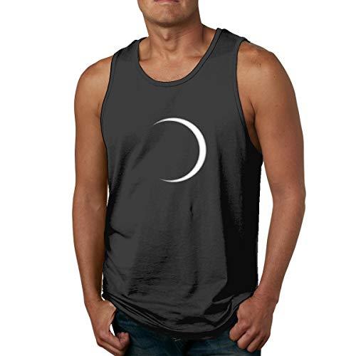 Total Eclipse Observe Safely Moon Mens Sleeveless Tank Tops Comfort Shirt Black
