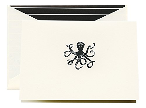 Crane & Co. Engraved Octopus Note (CF1627) Inc.