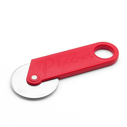 Pizza Cutter Precision Kitchenware - Ultra Sharp Pizza Cutter / Wheel Slices Through With Ease-Red