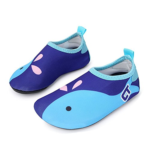 be6462c494838 Galleon - WXDZ Kids Water Shoes Swim Shoes Mutifunctional Quick Drying  Barefoot Aqua Socks For Beach Pool MS0220 Navy 24 25