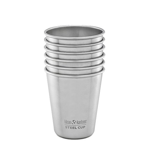 Klean Kanteen Stainless Steel Cup/Pint (Brushed Stainless, 6 Pack, 10-Ounce)