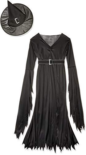 FunWorld Gothic Witch Adult Costume, Black, Medium/Large 10-14 ()