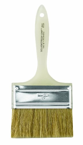 Brush China Bristle Paint (Wooster Brush Company A1147-4 Solvent Proof Bristle Chip Paint Brush, 4-Inch, White)