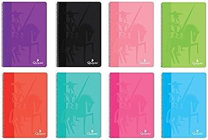 CL0520 - Pack de 8 cuadernos tapa normal, tamaño folio, 80 hojas, 60 gramos, cuadros 4x4mm: Amazon.es: Oficina y papelería