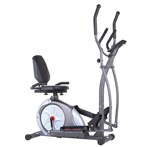 Body Champ New & Improved 3-in-1 Trio-Trainer/Elliptical, Upright Stationary, and Recumbent Exercise Bike ALL IN ONE Space Saving Machine